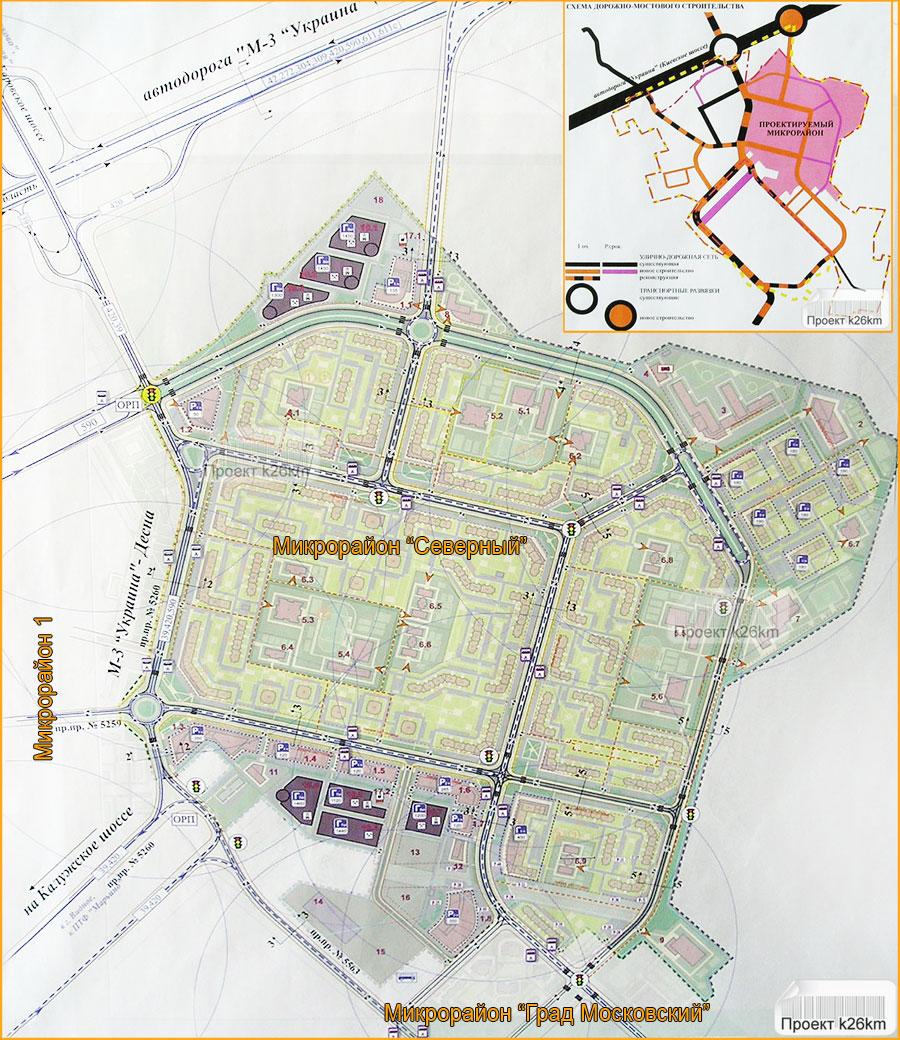 Схема транспортного обслуживания микрорайона