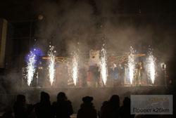 Празднование Нового года на центральной площади