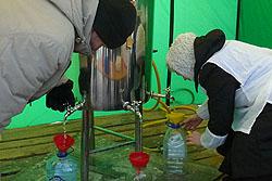 Расписание богослужений и раздача воды на Крещение