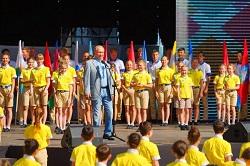 «Дети солнца» встретили В.В.Путина в «Артеке»