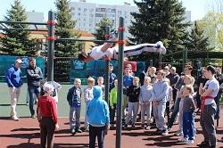 Тренировку по уличному фитнесу посетило 45 человек