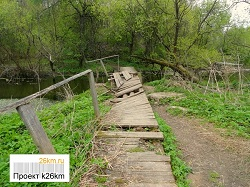Устройство пешеходного мостика через Ликову