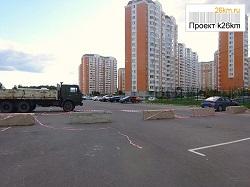 На Георгиевской улице огородили парковку