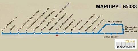 Полная информация по автобусу №333
