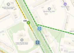 Движение автобусов №446 стало отображаться на карте Яндекс