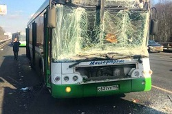 На Киевском шоссе произошло ДТП с участием автобуса