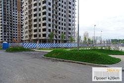Насыпные холмы украсили Первый Московский