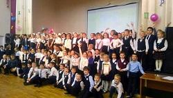 Юных учеников посвятили в первоклассники