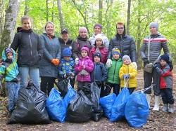 Дошколята приняли участие в акции по уборке леса