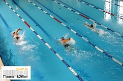 В бассейне проходят Окружные отборочные соревнования