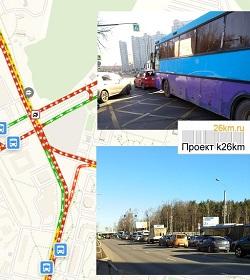 В Московском было затруднено автомобильное движение
