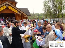Освящение куличей и пасхальные богослужения в Московском