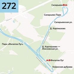 Автобус №272 будет курсировать до метро «Саларьево»