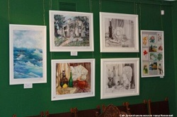 Работы учащихся ДШИ представлены в галерее Александра Шилова