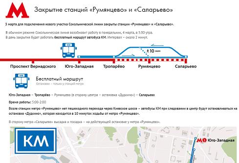 Организуется бесплатный автобус «КМ»