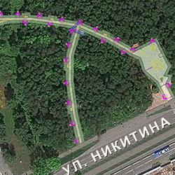 В зоне отдыха на улице Никитина обустроят две дорожки