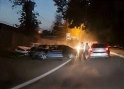 Погоня в Московском закончилась ДТП