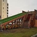 Обновлена деревянная горка