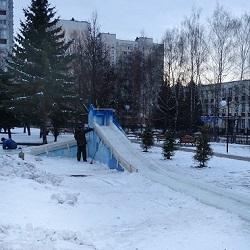 Зимой в Московском вновь откроют ледяные горки