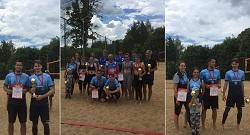 Сборные Московского по пляжному волейболу заняли призовые места